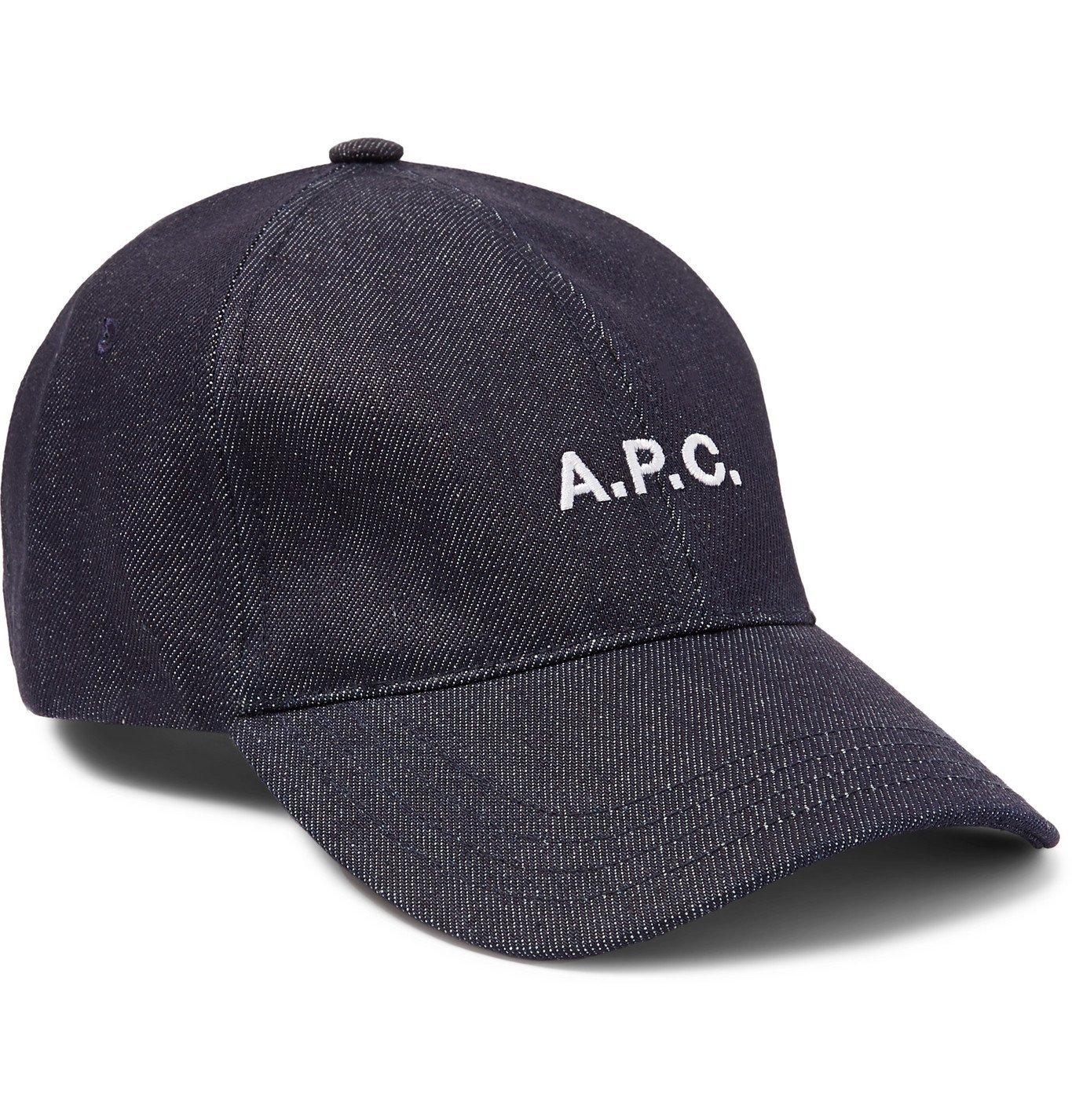 Photo: A.P.C. - Logo-Embroidered Denim Baseball Cap - Blue