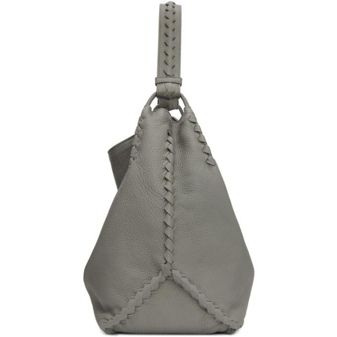 Bottega Veneta Grey Oversized Hobo Bag