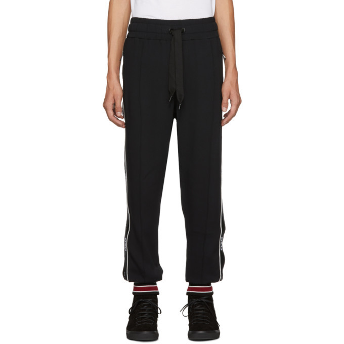 Photo: Dolce and Gabbana Black Logo Tape Lounge Pants