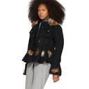 Sacai Black and Navy Denim Jacket