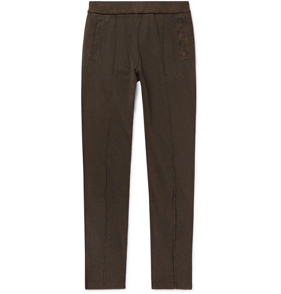 Photo: Bottega Veneta - Acid-Washed Cotton-Jersey Sweatpants - Men - Brown