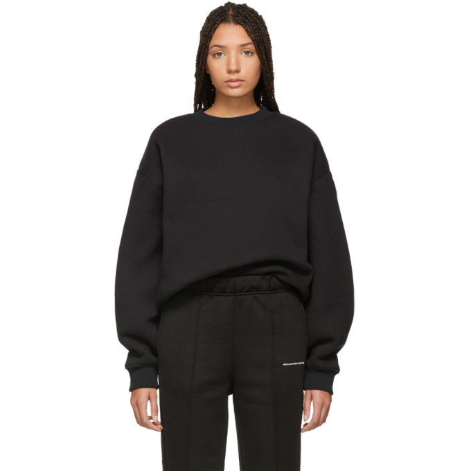 Photo: alexanderwang.t Black Dense Fleece Sweatshirt