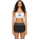 adidas Originals White All Me Badge of Sport Sports Bra