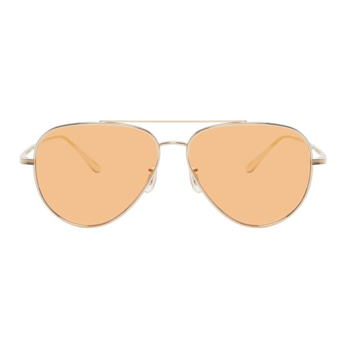 Photo: The Row Gold and Pink Casse Sunglasses