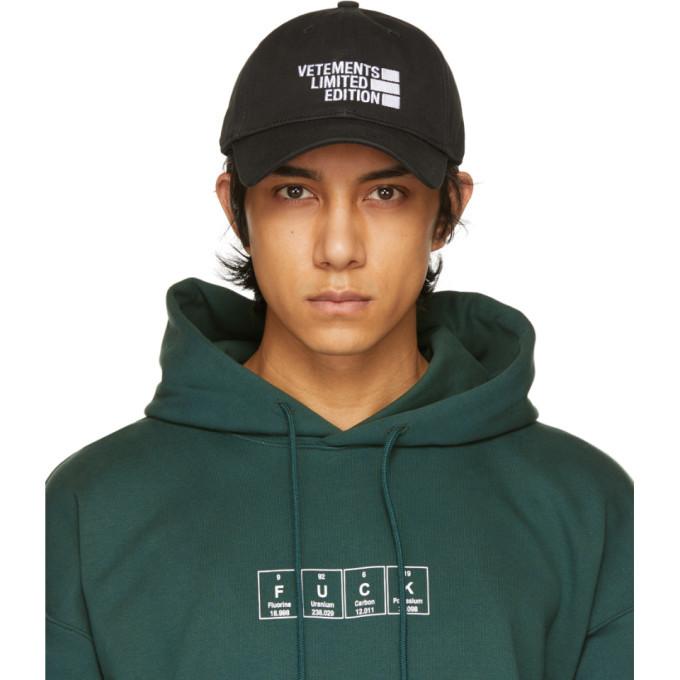 Photo: VETEMENTS Black Limited Edition Cap