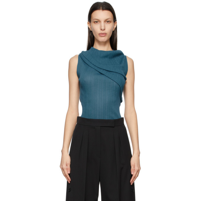 Photo: Nina Ricci Blue Off-The-Shoulder Tank Top