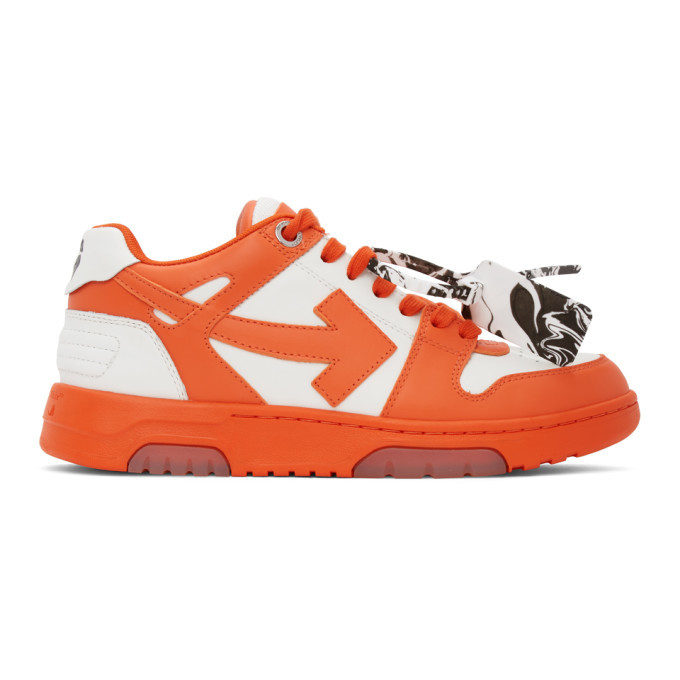 Photo: Off-White Orange and White Out Of Office Sneakers