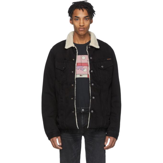 Photo: Nudie Jeans Black Denim Lenny Jacket