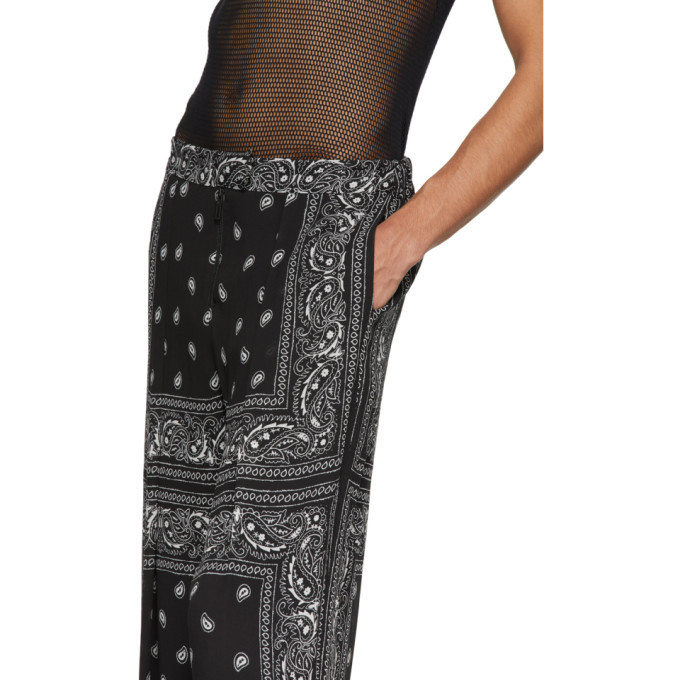 Dion Lee Black and White Paisley Scarf Trousers