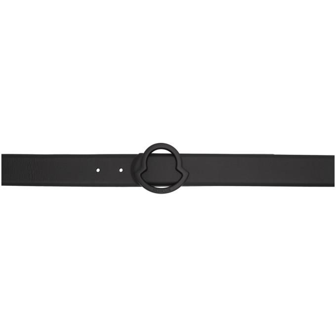 Photo: Moncler Black Matte Logo Belt