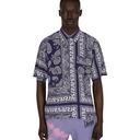 Aries Bandana Print Hawaiian Shirt Navy