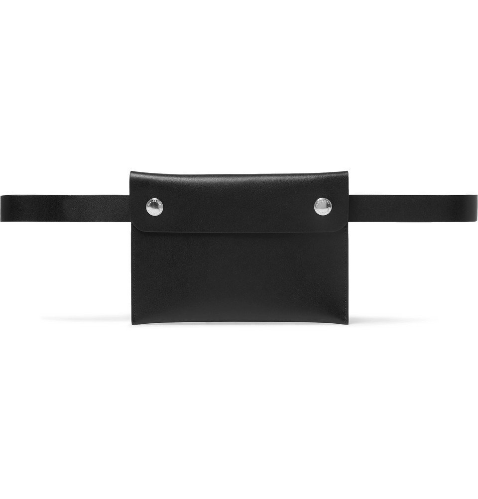 Photo: Our Legacy - Leather Belt Bag - Black