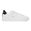 Golden Goose White and Black Pure Star Sneakers