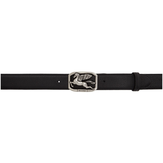 Photo: Etro Black Pegasus Belt