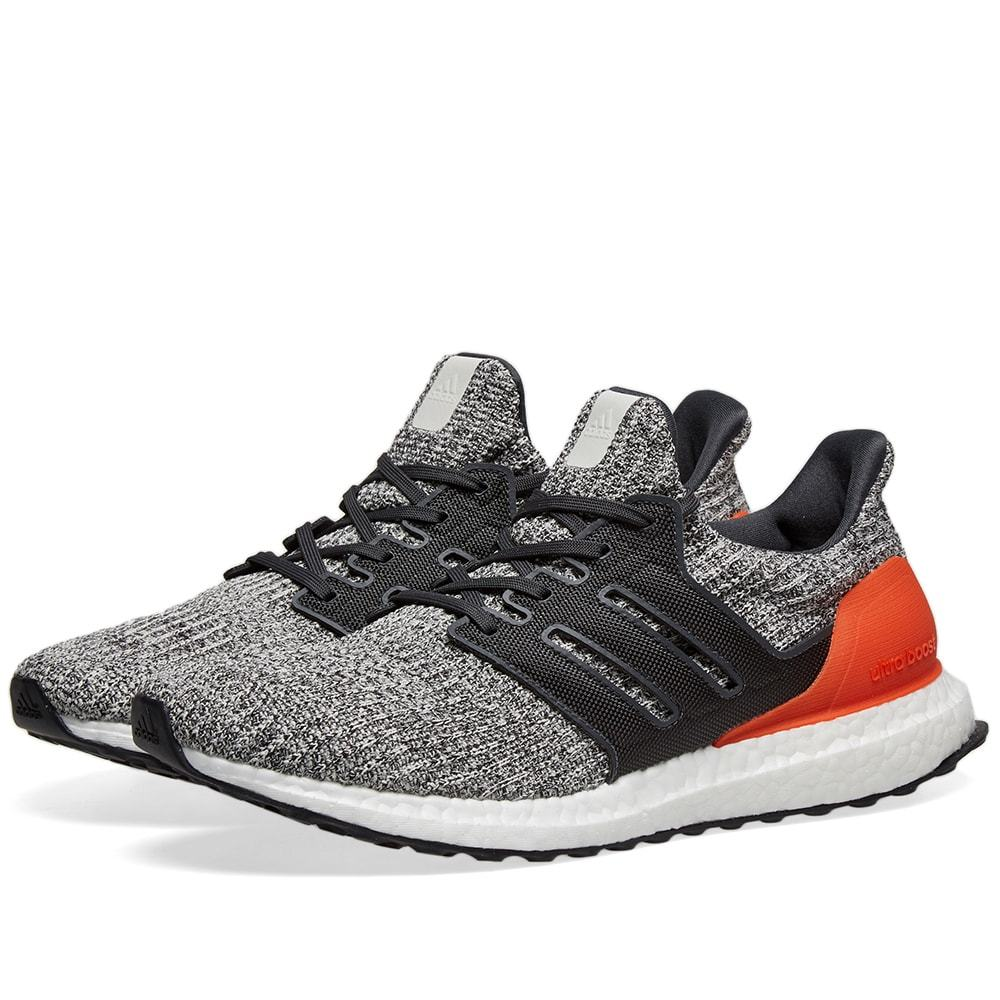 Photo: Adidas Ultra Boost Grey, Carbon & Active Orange