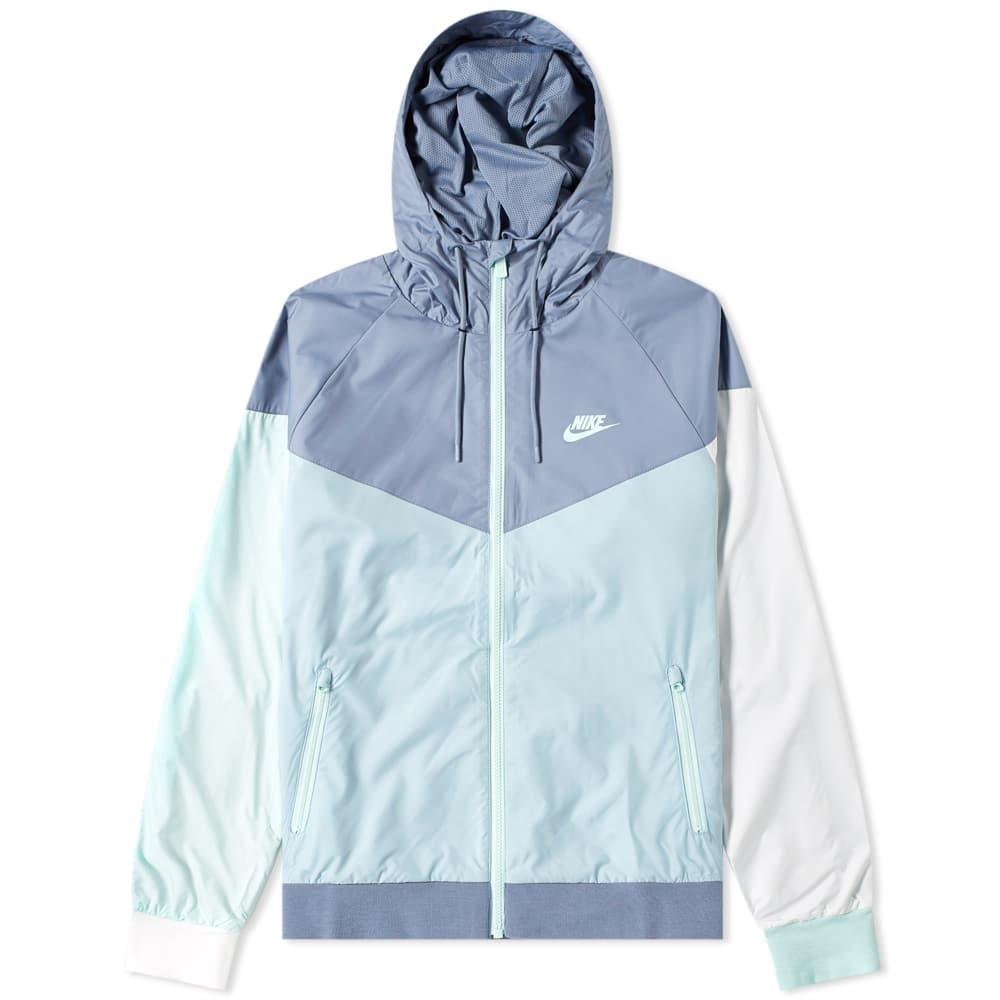 Photo: Nike Wind Runner Jacket Slate, Ocean & White
