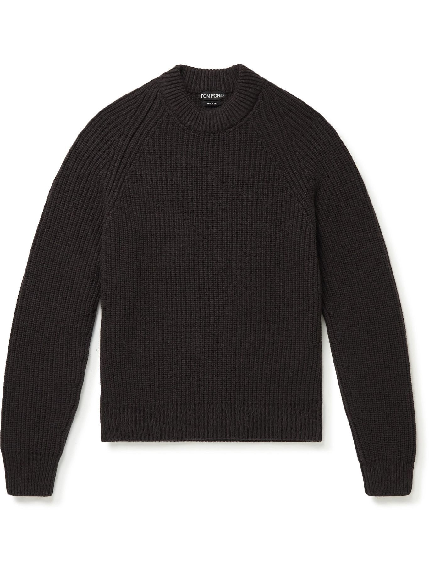 Photo: TOM FORD - Cashmere Mock-Neck Sweater - Brown