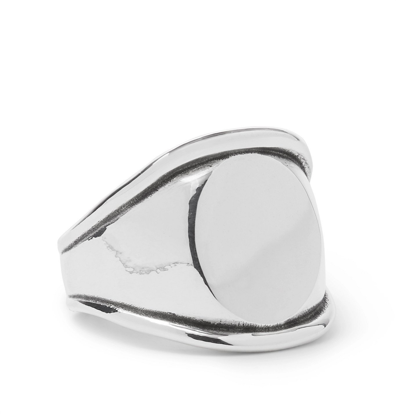 Photo: Bottega Veneta - Sterling Silver Signet Ring - Silver