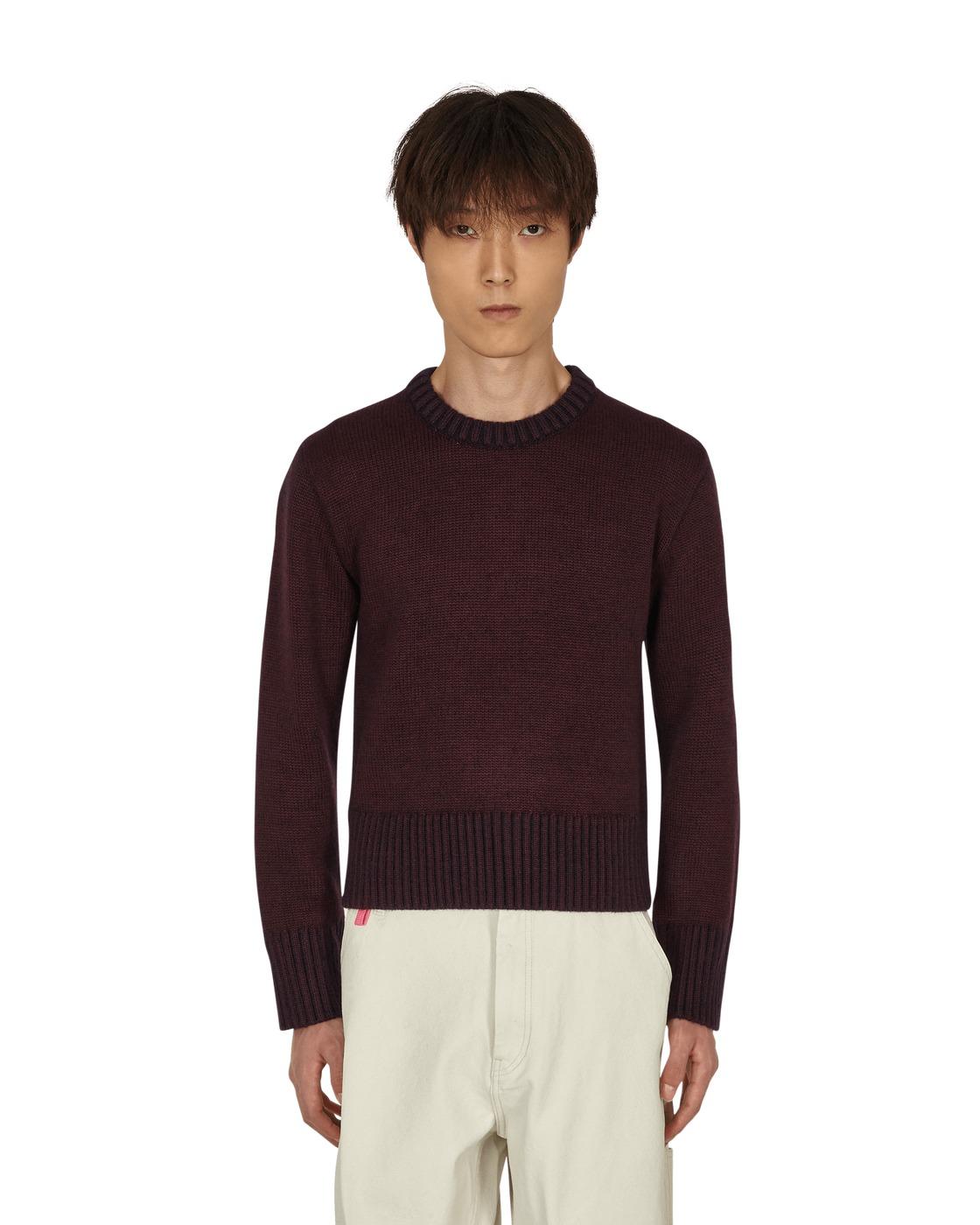 Photo: Maison Margiela Shrunken Crewneck Sweater Bordeaux
