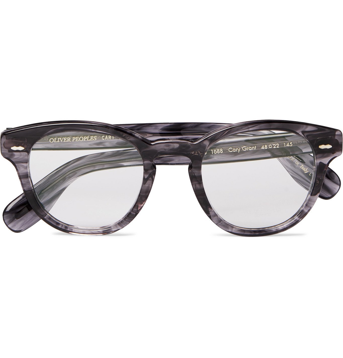 Photo: OLIVER PEOPLES - Cary Grant Round-Frame Acetate Optical Glasses - Blue