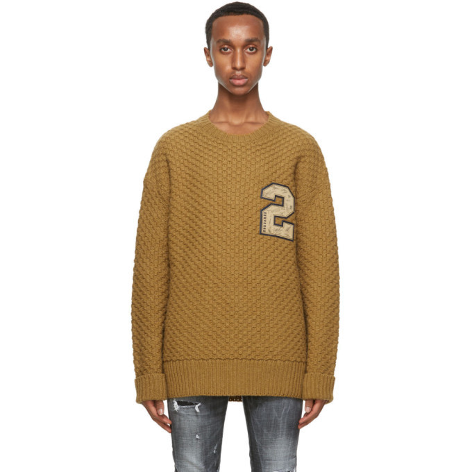 Photo: Dsquared2 Brown Wool Sweater