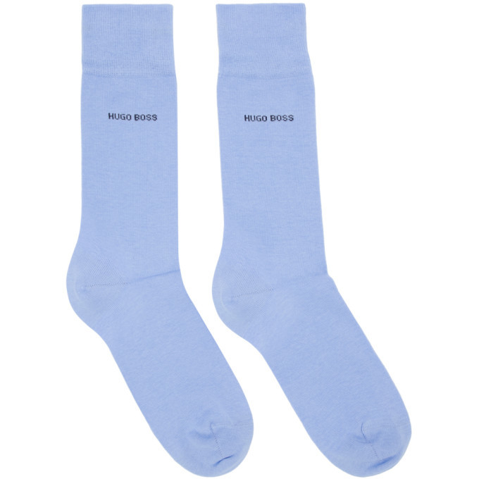 Photo: Boss Two-Pack Blue and Navy Logo Socks