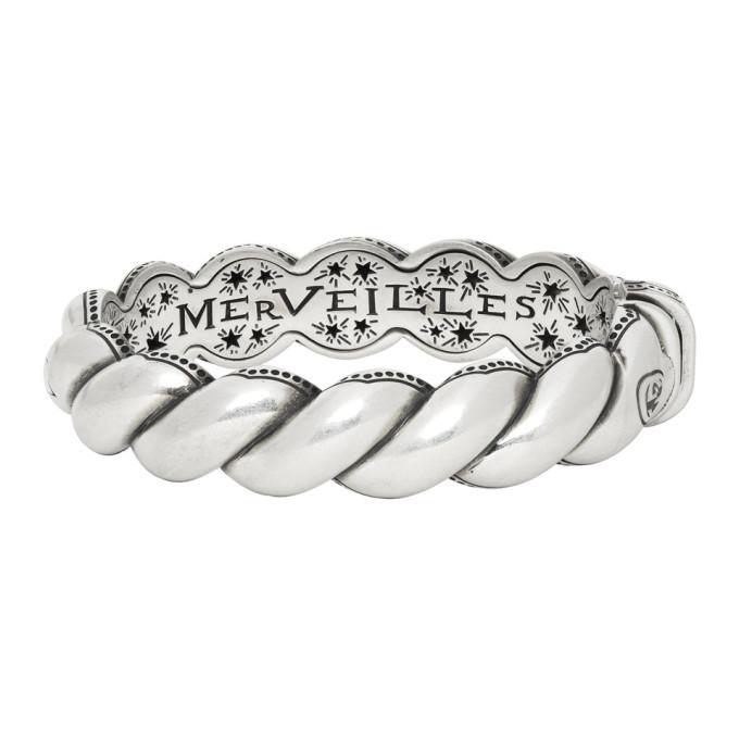Photo: Gucci Silver Twisted Garden Bracelet