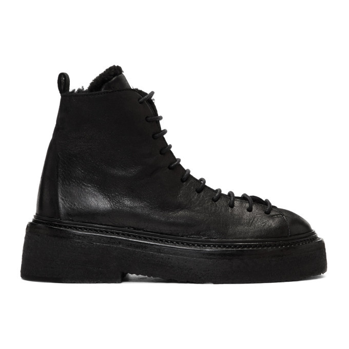 Marsell Black Parruccona Platform Boots