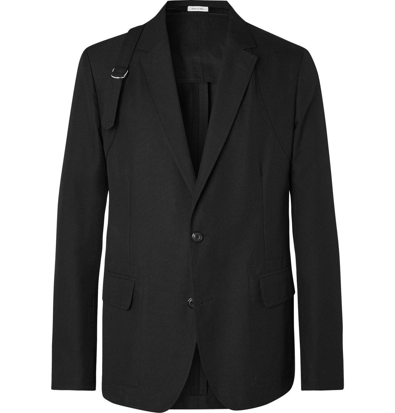 Photo: Alexander McQueen - Harness-Detailed Cotton Blazer - Black