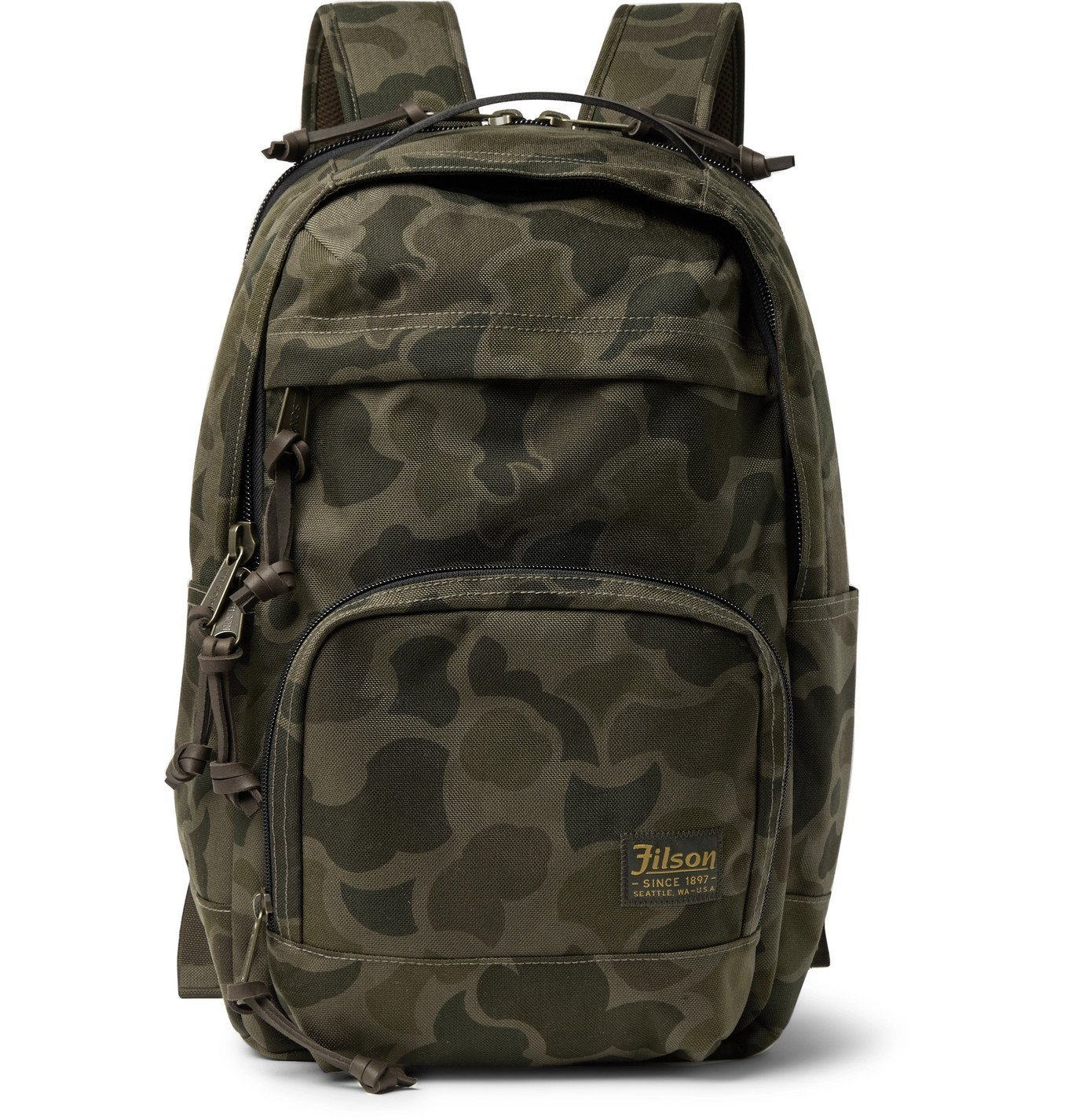Photo: Filson - Dryden Leather-Trimmed CORDURA Backpack - Green