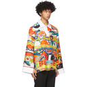 Botter Multicolor Silk Panelled Polo