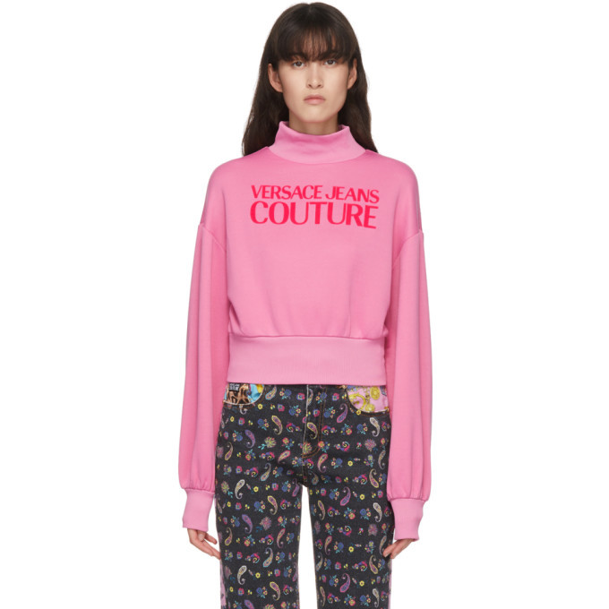 Photo: Versace Jeans Couture Pink Logo Turtleneck