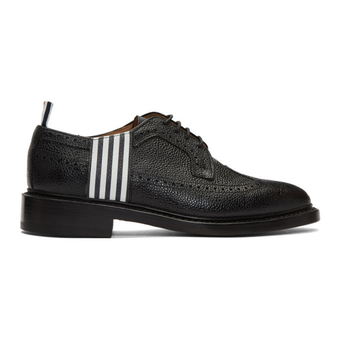 Photo: Thom Browne Black 4-Bar Contrast Classic Longwing Brogues