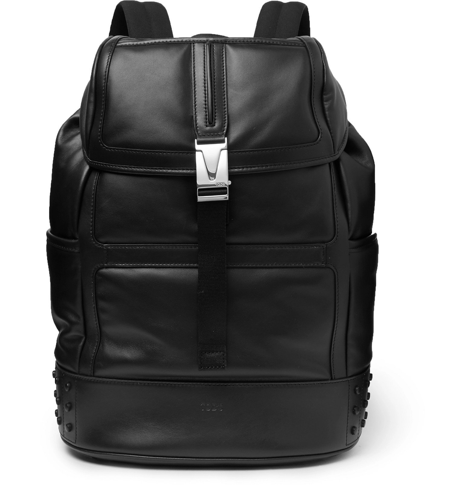 Photo: Tod's - Studded Leather Backpack - Black