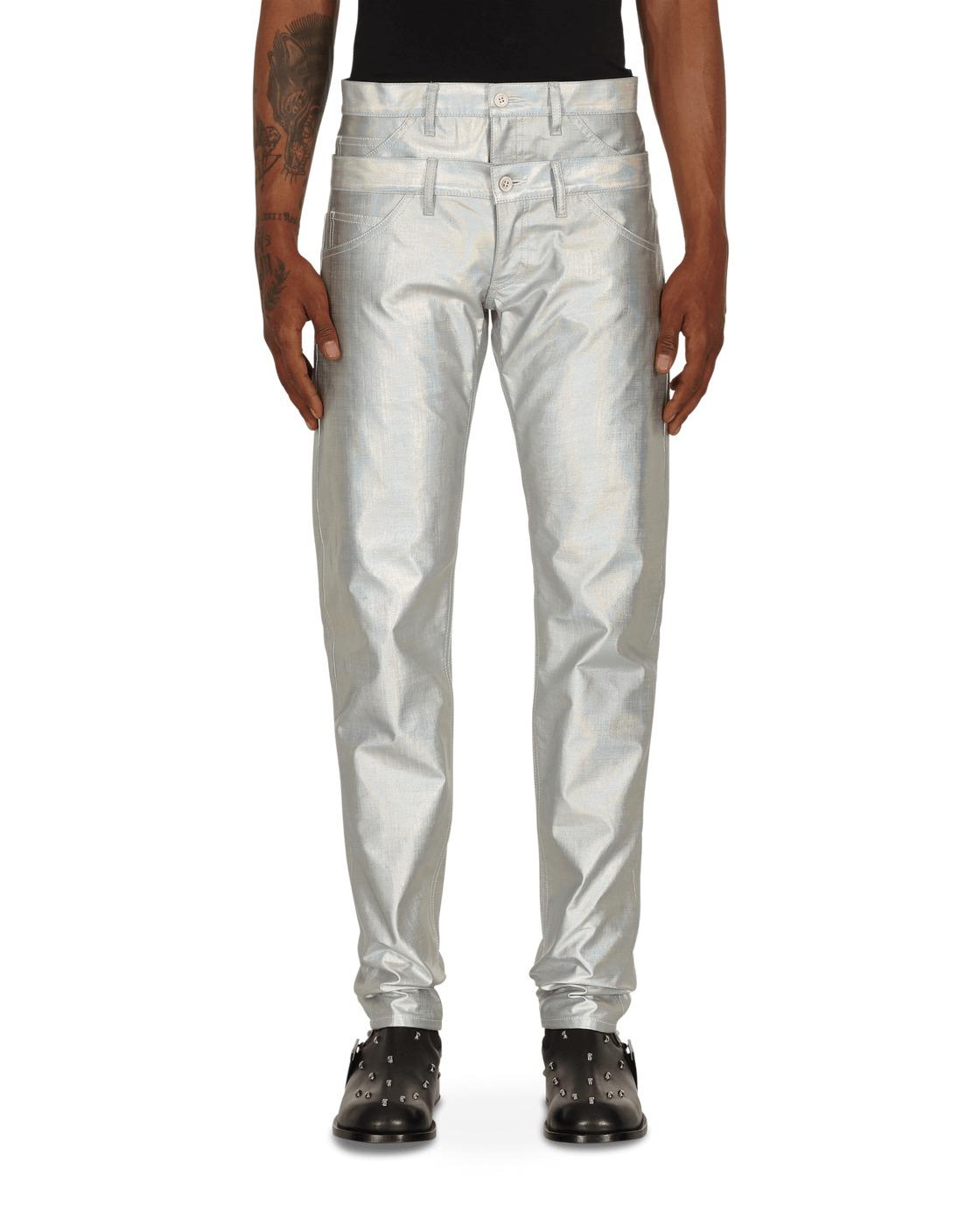 Photo: Comme Des Garcons Homme Plus Double Pants Silver