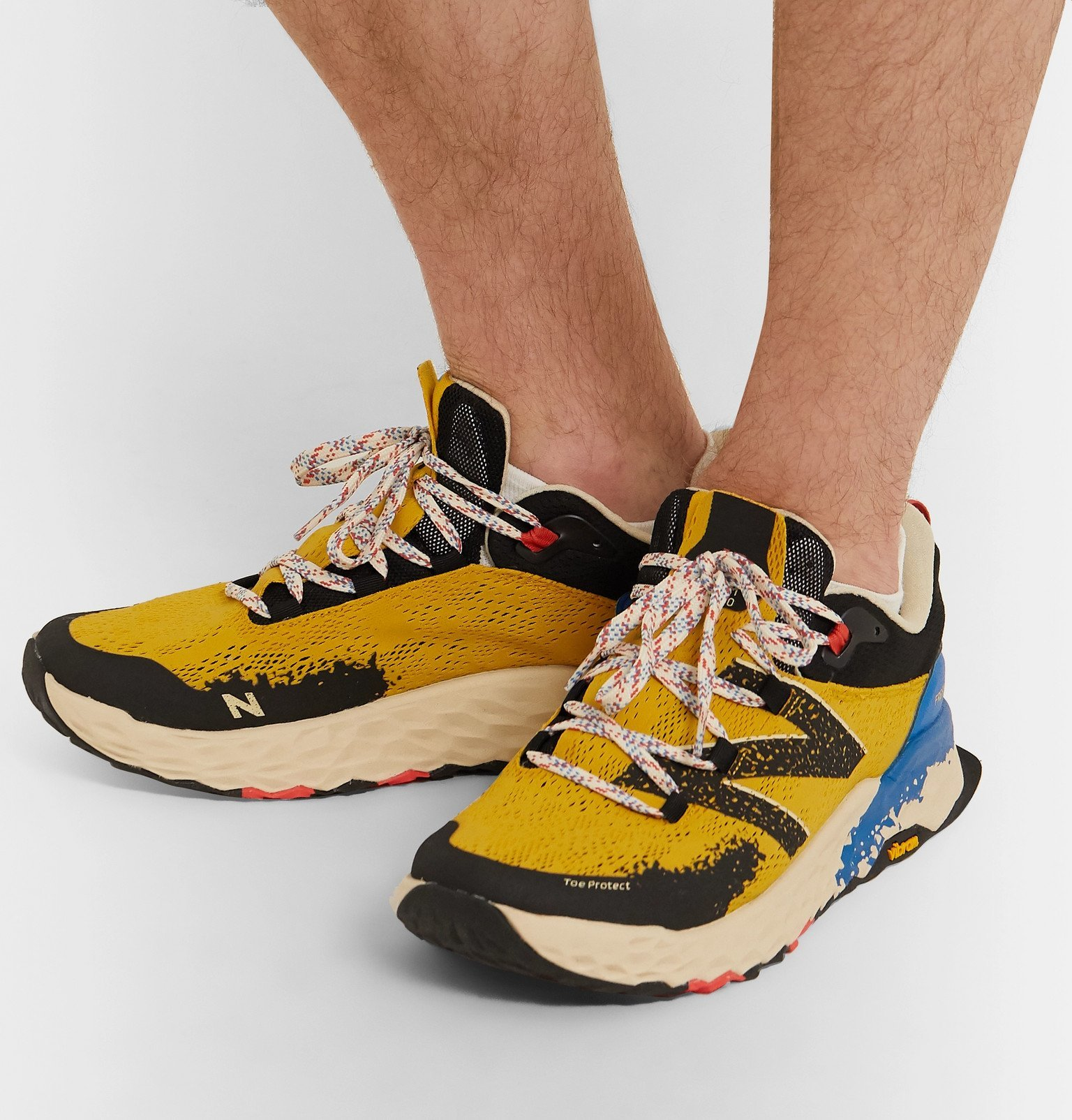 New Balance - Trail Heirro V5 Rubber-Trimmed Mesh Running Sneakers - Yellow