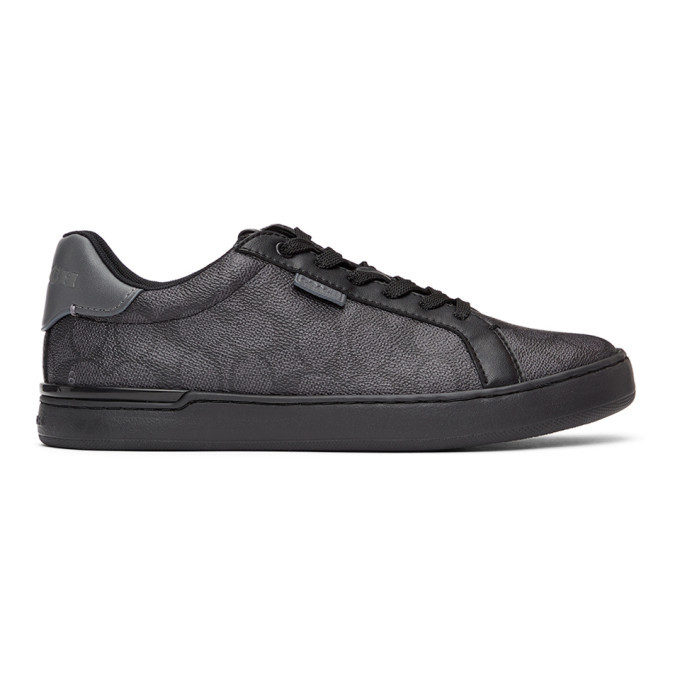 Photo: Coach 1941 Grey and Black Lowline Sneakers
