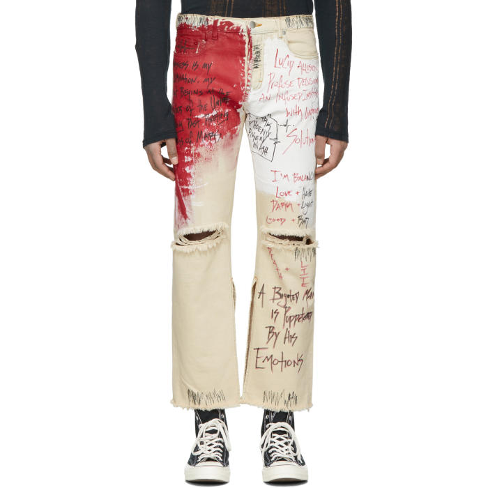 Photo: Faith Connexion Off-White Tag Distressed Jeans