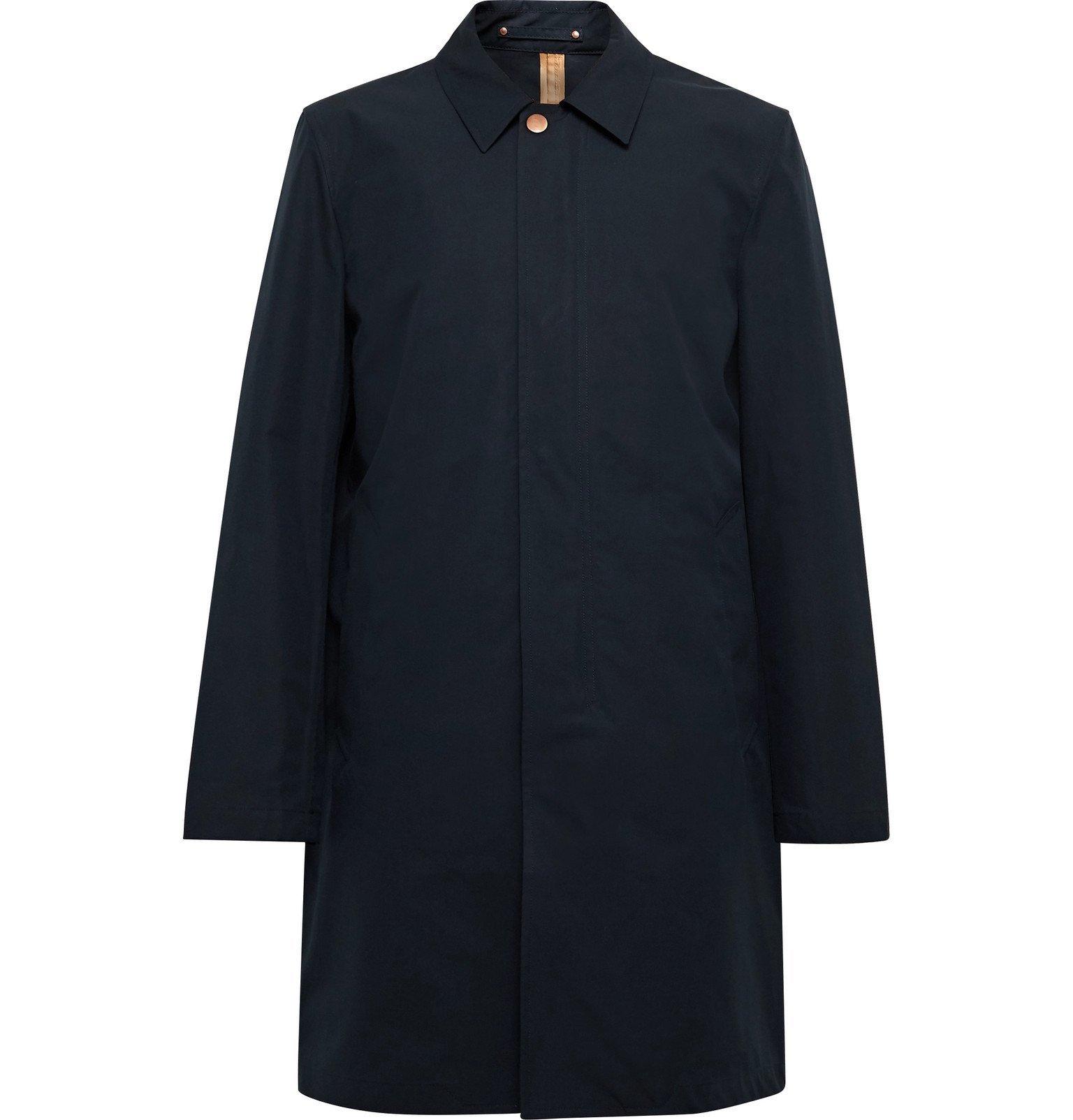 Photo: Private White V.C. - Cotton-Ventile Raincoat - Blue