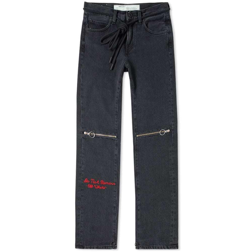Photo: Off-White Zip 5 Pocket Slim Jean Black