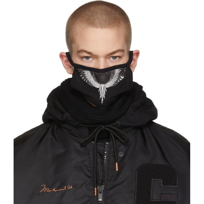 Photo: Marcelo Burlon County of Milan Black and Silver Wings Mask
