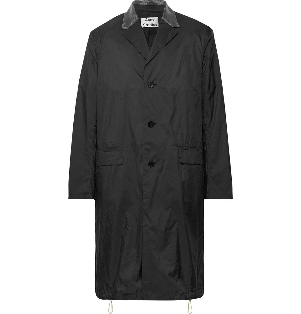 Photo: Acne Studios - Sagan Organza-Trimmed Nylon-Ripstop Coat - Black
