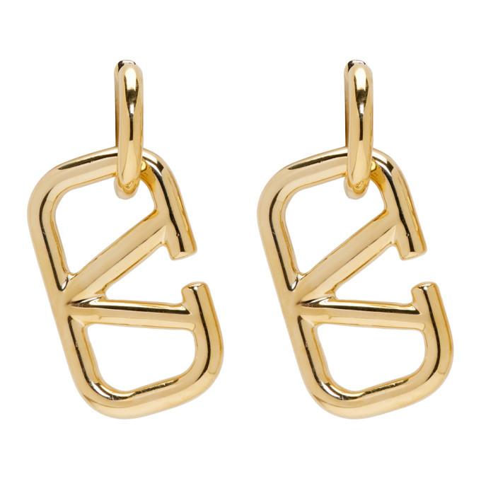 Photo: Valentino Gold VLogo Earrings