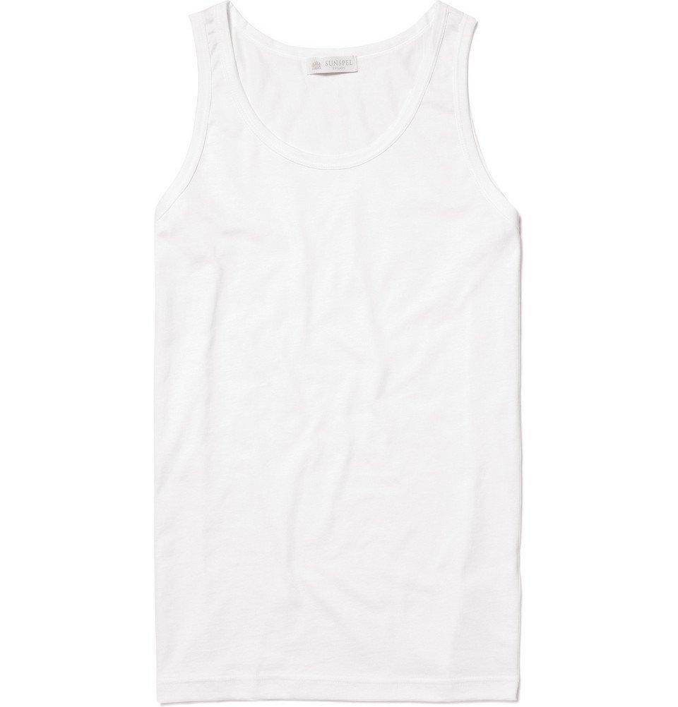 Sunspel - Cotton Underwear Tank Top - Men - White