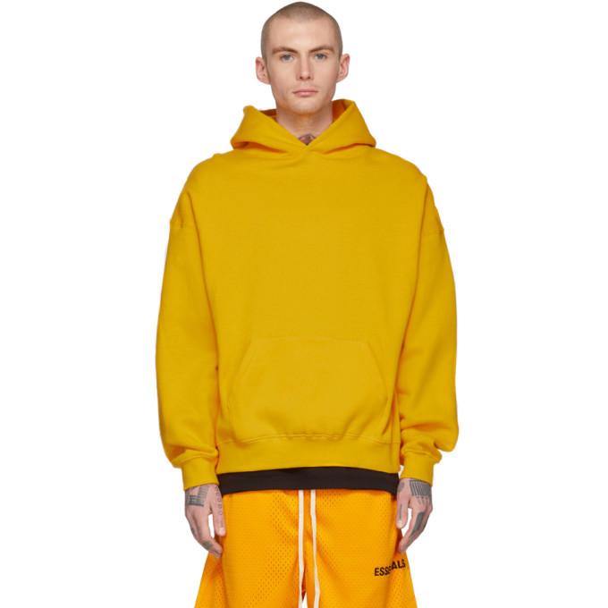 Photo: Essentials Yellow Logo Hoodie