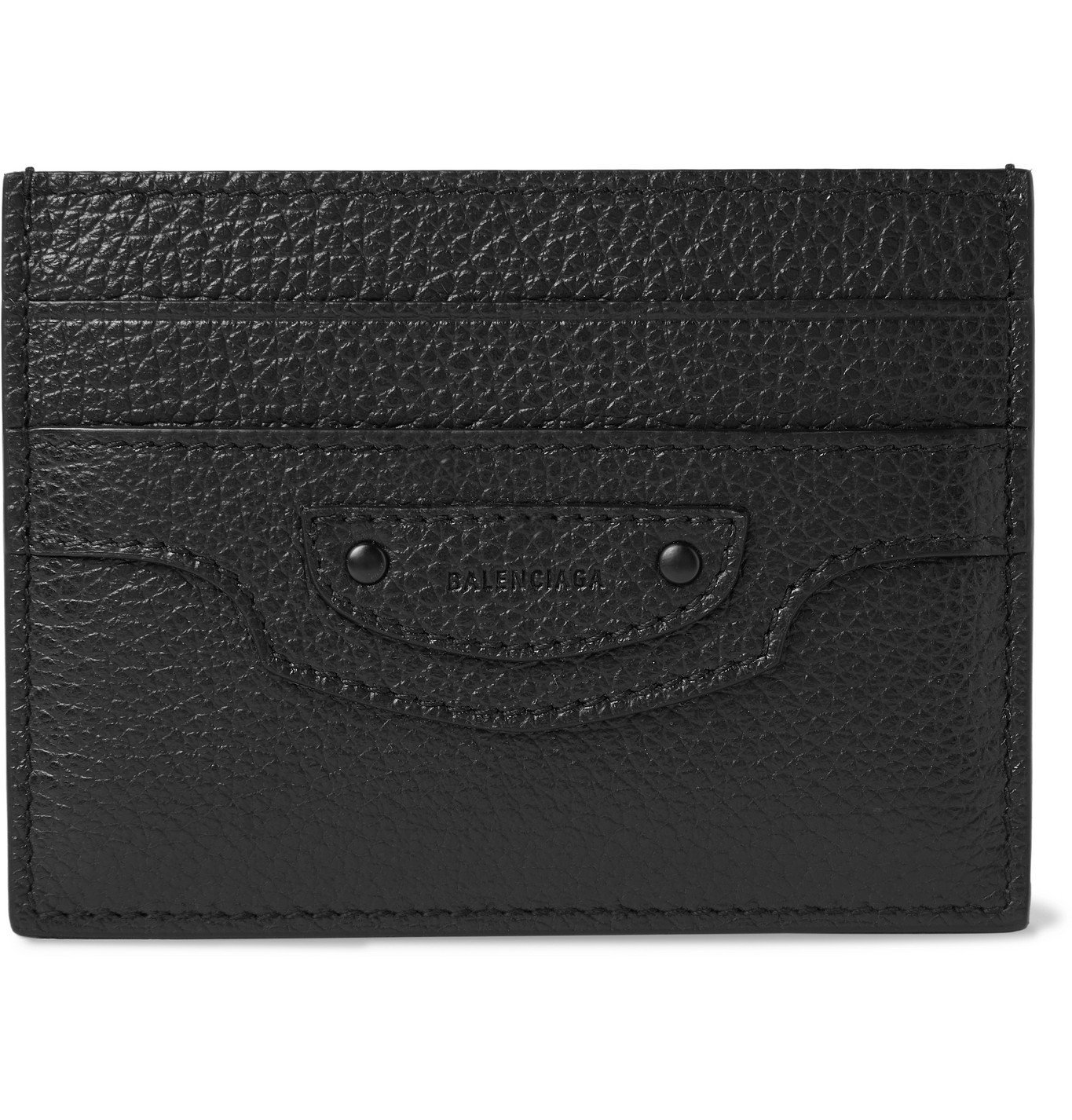 Photo: Balenciaga - Full-Grain Leather Cardholder - Black