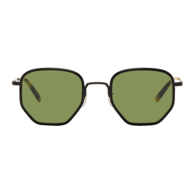 Oliver Peoples Black and Tortoiseshell Alland Sunglasses