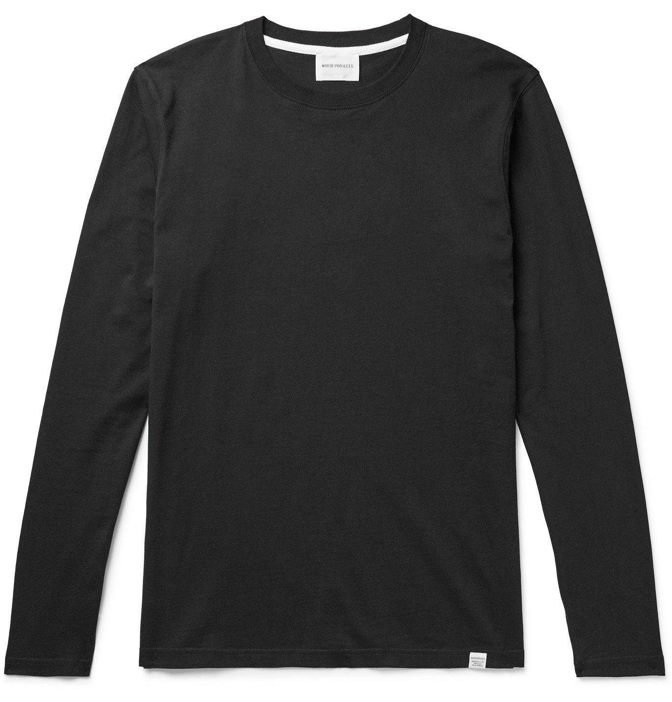 Photo: Norse Projects - Niels Mélange Cotton-Jersey T-Shirt - Black