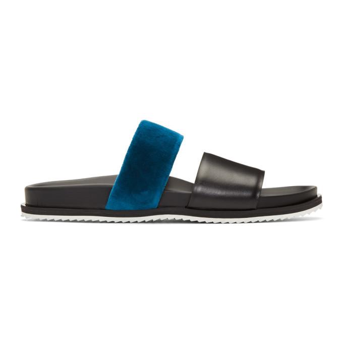 Photo: Haider Ackermann Black and Blue Strap Sandals