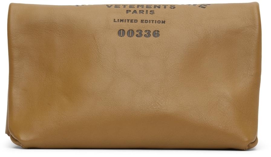 Photo: VETEMENTS Beige Calfskin Classic Paper Bag